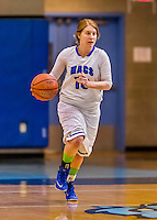 24 November 2015: Yeshiva University Maccabee Guard Tess Blaustein, a Junior from Hollywood, FL, in action against the College of Mount Saint Vincent Dolphins at the Baruch College ARC Arena Gymnasium, in New York, NY. The Dolphins defeated the Maccabees 67-30 in the NCAA Division III Women's Basketball Skyline matchup. Mandatory Credit: Ed Wolfstein Photo *** RAW (NEF) Image File Available ***