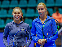 Rotterdam, Netherlands, December 13, 2017, Topsportcentrum, Ned. Loterij NK Tennis, Chayenne Ewijk (NED) vs Donnaroza Gouvernante (NED) (L)<br /> Photo: Tennisimages/Henk Koster