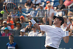 Diego Schwartzman (ARG) loses the first two sets to Rafael Nadal (ESP) 7-6, 6-3 at the US Open in Flushing, NY on September 2, 2015.