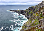 View from the top of the cliffs in the northwest corner of Valentia Island, County Kerry, Ireland