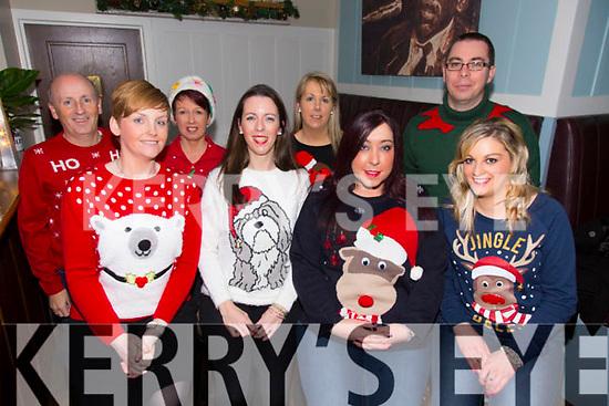 Boyle Sports Christmas party at Denny Lane on Saturday.  Front l-r Gillian Keegan, Lorraine O'Donnell, Laura Couchman, Marie O'Mahony.  Back l-r Mike Slattery, Martina Slattery, Carmel Breen, Damien O'Shea