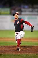 Batavia Muckdogs relief pitcher Ty Provencher (31) during a game against the West Virginia Black Bears on June 29, 2016 at Dwyer Stadium in Batavia, New York.  West Virginia defeated Batavia 9-4.  (Mike Janes/Four Seam Images)