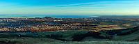 Edinburgh, Arthur's Seat and the East Lothian Coastline from Caerketton, The Pentland Hills, The Pentland Hills Regional Park, Lothian