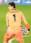 Real Madrid's Thibaut Courtois during UEFA Champions League match. November 3,2020.(ALTERPHOTOS/Acero)