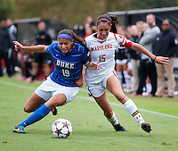 Maryland Women's Soccer vs. Duke, October 13, 2013