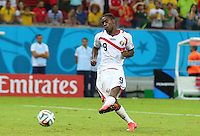 Joel Campbell of Costa Rica scores his penalty in the shootout