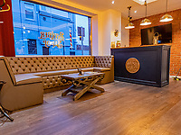 Pictured: Interior view.  Saturday 17 April 2021 <br /> Re: A&A Barbers on Walter Road, Swansea, Wales, UK.