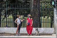 São Paulo (SP), 15/03/2021 - Fase Vermelha - Movimentação de pessoas na região de acesso aos portões 09 e 10 do Parque Ibirapuera, Av Pedro Álvares Cabral, Zona Sul da cidade de São Paulo, na manhã desta segunda (15). A fase Vermelha no Estado de São Paulo teve início  no último dia (06) e medidas de Plano emergenciais restritiva de iniciaram a partir de hoje (15) o que acarretou na proibição do uso dos Parques Públicos.