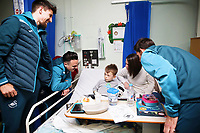 Thursday 21 December 2017<br /> Pictured: Federico Fernandez, Roque Mesa and Angel Rangel of Swansea City<br /> Re: Swansea City Childrens Ward Visit, Morriston Hospital, Swansea, Wales, UK