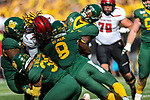Texas Tech Red Raiders quarterback Jett Duffey (7) in action during the game between the Texas Tech Red Raiders and the Baylor Bears at the McLane Stadium in Waco, Texas.