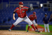 Altoona Curve relief pitcher Montana DuRapau (36) delivers a pitch during a game against the Binghamton Rumble Ponies on May 17, 2017 at NYSEG Stadium in Binghamton, New York.  Altoona defeated Binghamton 8-6.  (Mike Janes/Four Seam Images)