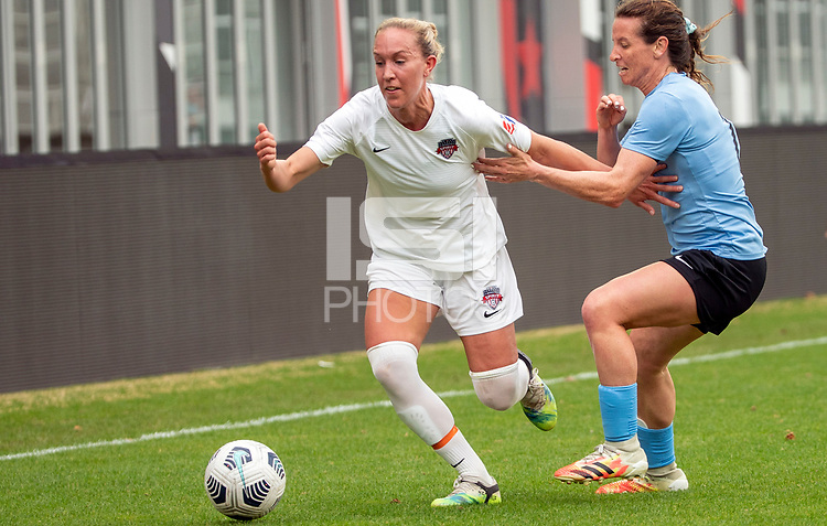 WASHINGTON D.C., ON MARCH 28, 2021 - MARCH 28: Washington, D.C.- March 28: Washington Spirit midfielder Julia Roddar (16) during a match between the Washington Spirit and Sky Blue FC at Audi Field, in Washington D.C., on March 28, 2021 during a game between Sky Blue FC and Washington Spirit at Audi Field, in Washington D.C., on March 28, 2021 in Washington D.C., on March 28, 2021.
