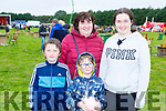 Marcus, Mary, Rory and Ciara Kissane at the Threshing for Cancer in Beaufort on Sunday