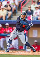 5 March 2016: Detroit Tigers outfielder Tyler Collins in action during a Spring Training pre-season game against the Washington Nationals at Space Coast Stadium in Viera, Florida. The Tigers fell to the Nationals 8-4 in Grapefruit League play. Mandatory Credit: Ed Wolfstein Photo *** RAW (NEF) Image File Available ***