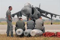 "- Italian Navy, vertical take-off aircraft AV-8B ""Harrier""....- Marina militare italiana, aereo a decollo verticale AV-8B ""Harrier"""