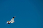 A Eurofighter Typhoon fighter aircraft, manufactured by BAE Systems Plc,perform a flying exhibition during the Dubai Air Show on 9 November 2015 at the outskirts of Dubai, United Arab States. Photo by Victor Fraile / Power Sport Images