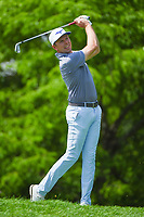 5th June 2021; Dublin, Ohio, USA; Bo Hoag (USA) watches his tee shot on 14 during the Memorial Tournament Rd3 at Muirfield Village Golf Club on June 5, 2021 in Dublin, Ohio.