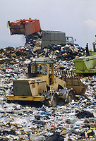 - rubbish dump of city solid waste<br />