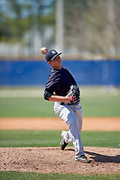 New York Yankees pitcher Justin Kamplain (37) delivers a pitch during a minor league Spring Training game against the Toronto Blue Jays on March 30, 2017 at the Englebert Complex in Dunedin, Florida.  (Mike Janes/Four Seam Images)