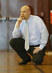 WATERBURY, CT,  02 JANUARY 2006, 010207BZ19- Sacred Heart head coach Ryan Sullivan watches the action against Kennedy Tuesday.<br /> Jamison C. Bazinet Republican-American
