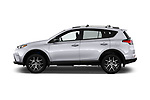 Car Driver side profile view of a 2018 Toyota RAV4 SE 5 Door SUV Side View