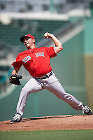Boston Red Sox pitcher Robby Sexton (68) during an Instructional League game against the Minnesota Twins on September 23, 2016 at JetBlue Park at Fenway South in Fort Myers, Florida.  (Mike Janes/Four Seam Images)