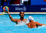 Enzo Khasz in action during game between Montenegro against France LEN European Water Polo Championships, Barcelona 16.07.2018