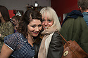London, UK. 24.02.2014. Frances Ruffelle (who plays Bella Gross) and Tracie Bennett, at the after party for press night of The A to Z of Mrs P, which premieres at Southwark Playhouse. © Jane Hobson.
