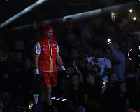 9th October 2021; M&S Bank Arena, Liverpool, England; Matchroom Boxing, Liam Smith versus Anthony Fowler;  ANTHONY FOWLER (Liverpool, England)  bwalks to the ring prior to his WBA International Super-Welterweight Title v LIAM SMITH (Liverpool, England)
