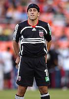 2006 MLS Regular Season Match at RFK Stadium, DC United Forward Alecko Eskandarian in pregame lineup final score DC United 1, FC Dallas 1, Saturday, April 29.