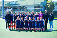 The PNGHS team. 2020 Lower North Island Secondary Schools Hockey Girls Premiership tournament 3rd place playoff between Napier Girls' High School and Plamerston North Girls' High School at Fitzherbert Park Twin Turfs in Palmerston North, New Zealand on Friday, 4 September 2020. Photo: Dave Lintott / lintottphoto.co.nz