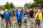 The Camp Community make a presentation to Fr. Gerry Keane as he leaves for new position in Eyeries in Cork, the presentation was made after mass on Sunday..<br /> <br /> Gene Finn (Chairman of Community Council), Fr. Gerry Keane, Conor O'Dwyer and Bridget O'Connor,