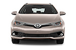 Car photography straight front view of a 2015 Toyota Auris Touring Sports Dynamic 5 Door Wagon Front View