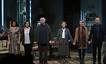 "Lucy Cohu, Amanda Drew,  Jonathan Pryce, Eileen Atkins, Lisa O'Hare and James Hillier during the Broadway Opening Night Curtain Call for the MTC  production of  ""The Height Of The Storm"" at Samuel J. Friedman Theatre on September 24, 2019 in New York City."