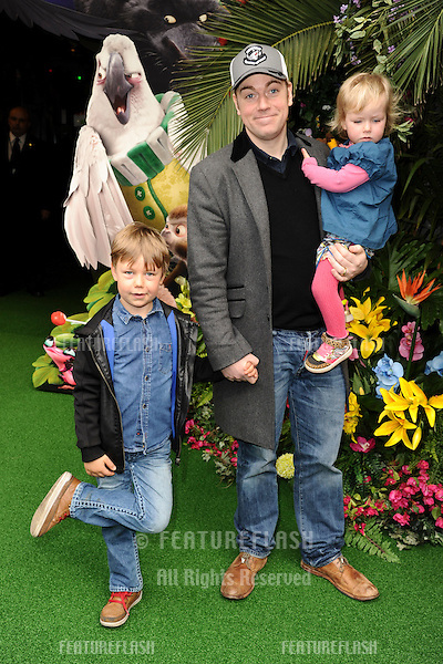 """Rufus Hound<br /> arives for the """"Rio 2"""" Screening at the Vue cinema Leicester Square, London. 30/03/2014 Picture by: Steve Vas / Featureflash"""