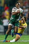 Zimbabwe vs Brazil during the HSBC Sevens Wold Series Qualifier Quarter Finals match as part of the Cathay Pacific / HSBC Hong Kong Sevens at the Hong Kong Stadium on 28 March 2015 in Hong Kong, China. Photo by Juan Manuel Serrano / Power Sport Images