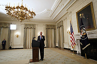United States President Joe Biden replies to questions from reporters after remarks on the economic recovery in the State Dining Room at the White House in Washington on July 19, 2021. <br /> CAP/MPI/RS<br /> ©RS/MPI/Capital Pictures