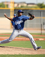 Kenley Jansen - Los Angeles Dodgers, 2009 Instructional League.Photo by:  Bill Mitchell/Four Seam Images..