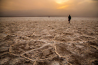 The salt flats at Badwater Basin at Death Valley National Park, California