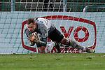 13.01.2021, xtgx, Fussball 3. Liga, VfB Luebeck - SV Waldhof Mannheim emspor, v.l. Timo Koenigsmann (Mannheim, 1) Parade, haelt den Ball, faengt den Ball, pariert <br /> <br /> (DFL/DFB REGULATIONS PROHIBIT ANY USE OF PHOTOGRAPHS as IMAGE SEQUENCES and/or QUASI-VIDEO)<br /> <br /> Foto © PIX-Sportfotos *** Foto ist honorarpflichtig! *** Auf Anfrage in hoeherer Qualitaet/Aufloesung. Belegexemplar erbeten. Veroeffentlichung ausschliesslich fuer journalistisch-publizistische Zwecke. For editorial use only.
