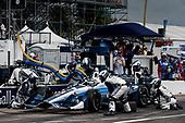 2017 Verizon IndyCar Series - Firestone Grand Prix of St. Petersburg<br /> St. Petersburg, FL USA<br /> Sunday 12 March 2017<br /> Max Chilton pit stop<br /> World Copyright:Sam Cobb/LAT Images<br /> ref: Digital Image cobb-stpete-170312-4400