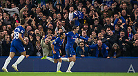 PEDRO of Chelsea & Álvaro MORATA of Chelsea celebrate the first goal during the Premier League match between Chelsea and Crystal Palace at Stamford Bridge, London, England on 4 November 2018. Photo by Andy Rowland.<br /> .<br /> (Photograph May Only Be Used For Newspaper And/Or Magazine Editorial Purposes. www.football-dataco.com)