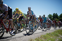 Chris Froome (GBR/SKY) in the pack<br /> <br /> stage 16: Morain-en-Montagne to Bern (SUI) / 209km<br /> 103rd Tour de France 2016
