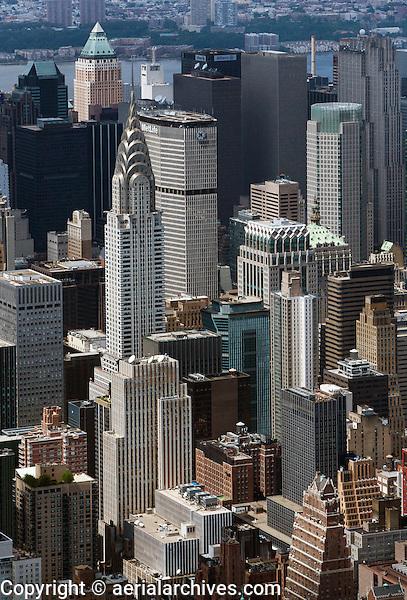 aerial photograph Chrysler building and vicinity, Manhattan, New York City