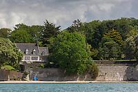 France, Morbihan, Arradon :  Le Golfe du Morbihan à Roguedas // // France, Morbihan, Gulf of Morbihan,
