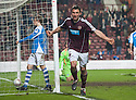 Hearts' John Sutton celebrates after he scores their second goal.