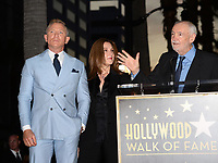 LOS ANGELES, CA. October 06, 2021: Daniel Craig, Barbara Broccoli & Michael G. Wilson on Hollywood Boulevard where he was honored with a star on the Hollywood Walk of Fame. <br /> Picture: Paul Smith/Featureflash