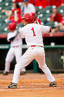 Landon Appling #1 of the Houston Cougars at bat against the Baylor Bears at Minute Maid Park on March 4, 2011 in Houston, Texas.  Photo by Brian Westerholt / Four Seam Images
