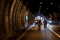 the breakaway group in a (long & cold) tunnel<br /> <br /> 'La Primavera' (Spring) in summer!<br /> 111st Milano-Sanremo 2020 (1.UWT)<br /> 1 day race from Milano to Sanremo (305km)<br /> <br /> the postponed edition > exceptionally held in summer because of the Covid-19 pandemic calendar reshuffle