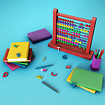 Illustration of education equipment